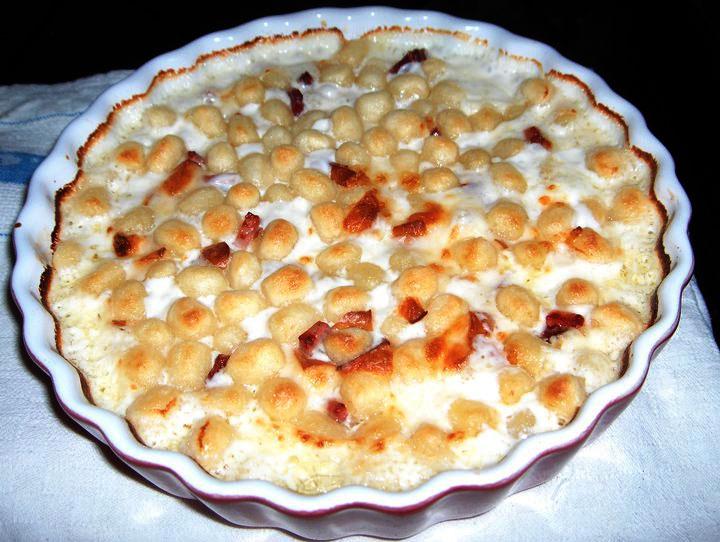 Chicche di patate con speck e scamorza affumicata