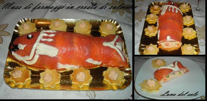 Mousse di formaggio in crosta di salmone affumicato