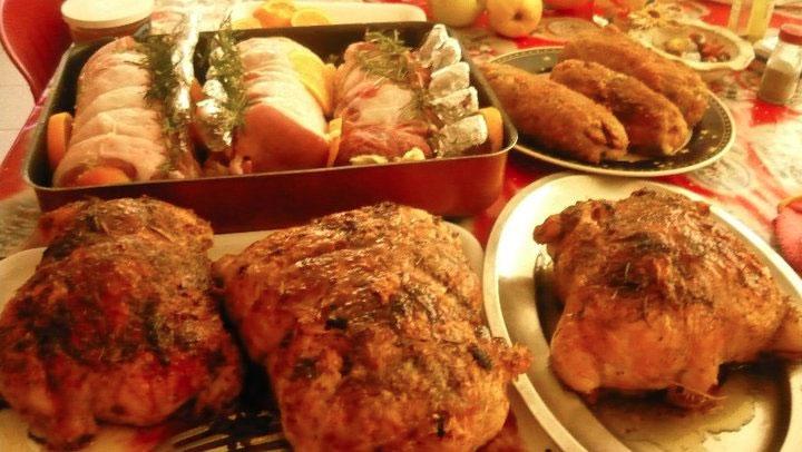 Pollo ripieno al forno