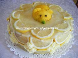 Torta di pandoro al limoncello