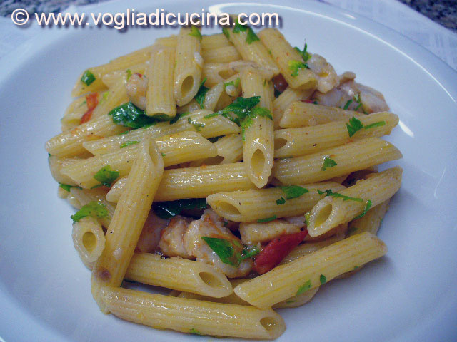 Penne con filetto di cernia