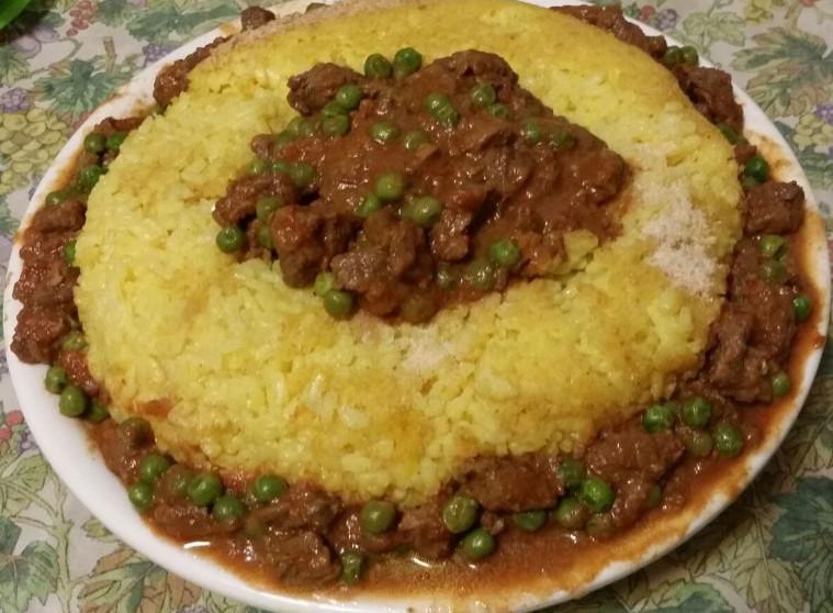 Aureola di riso con manzo