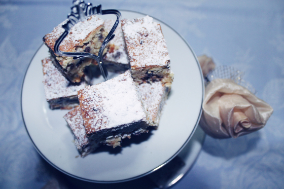 Brownies con cioccolato bianco