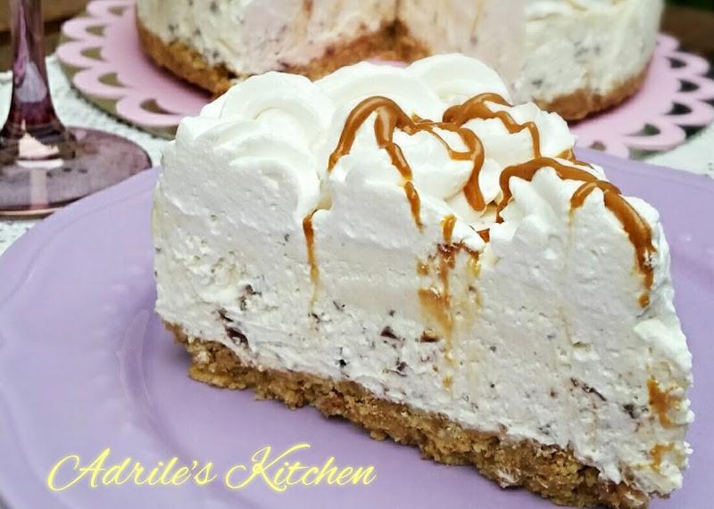 Cheesecake con crema al whisky
