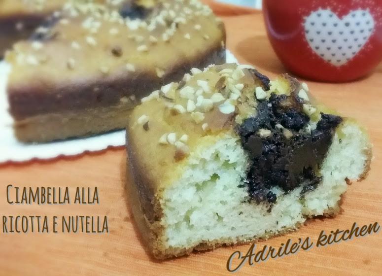Ciambellona di ricotta e Nutella