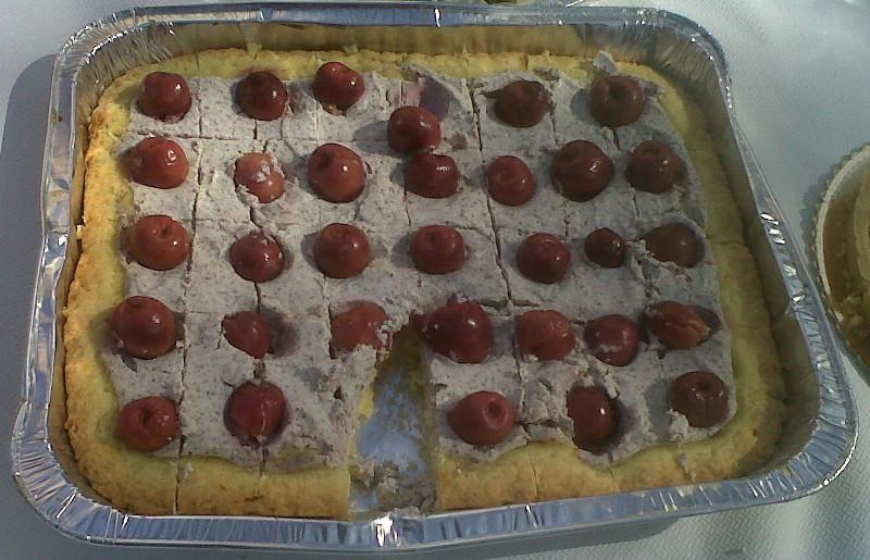 Crostata con ricotta e ciliegie