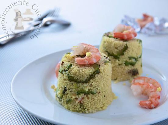 Cuscus con gamberi zucchine e zenzero
