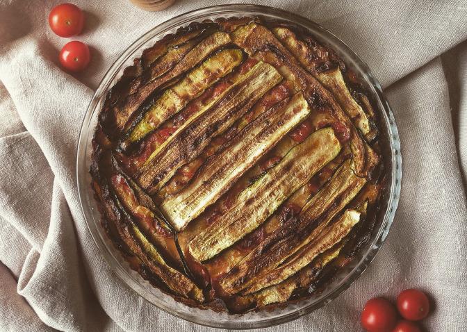 Farinata con verdure grigliate