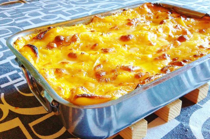 Lasagna con tartufo e zucca