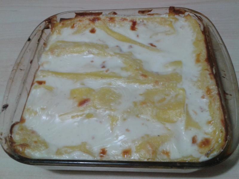 Lasagne con arrosto di tacchino e fontina