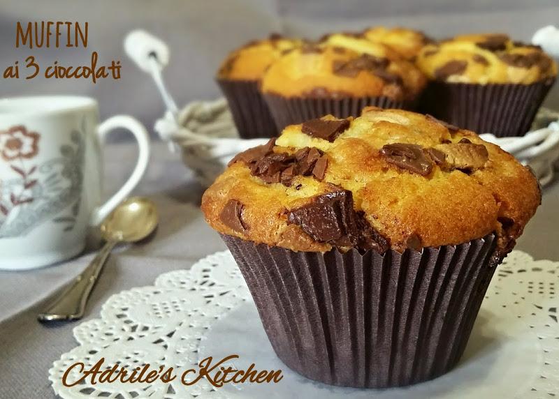 Muffin al mix di cioccolati