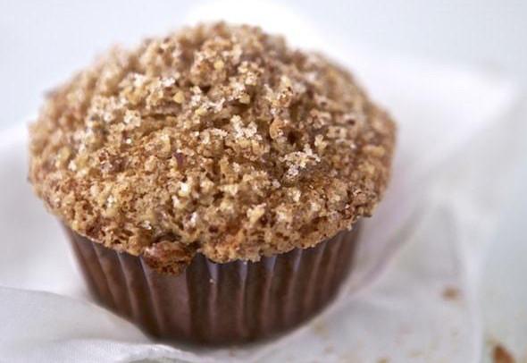 Muffin alla zucca con crumble di mandorle