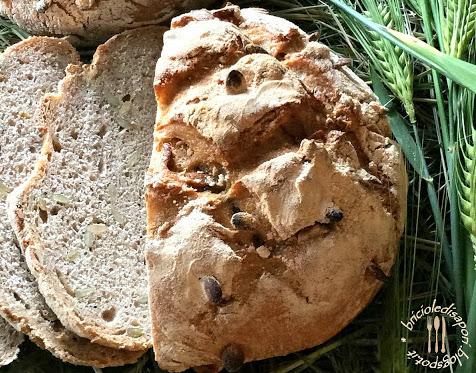 Pane alla farina d'orzo con semi di zucca