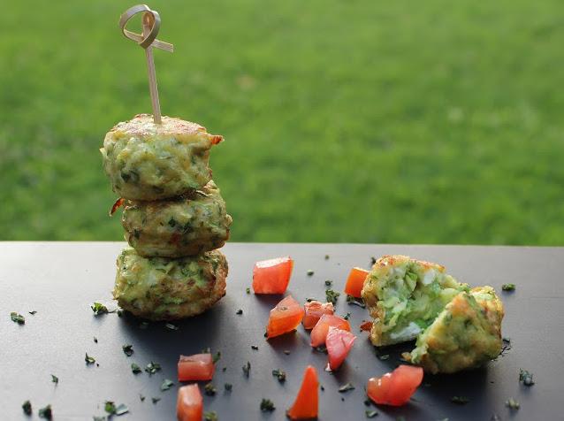 Polpettine con zucchine e feta