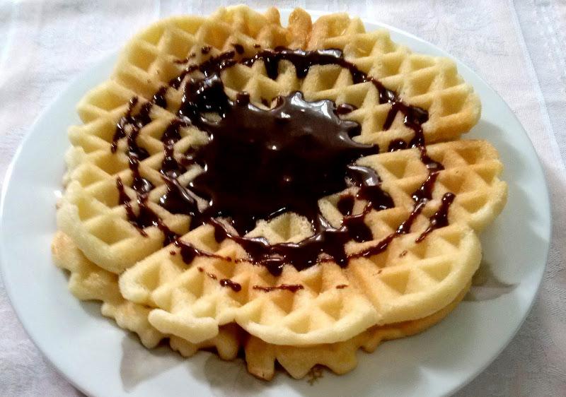 Waffle con cioccolato fuso