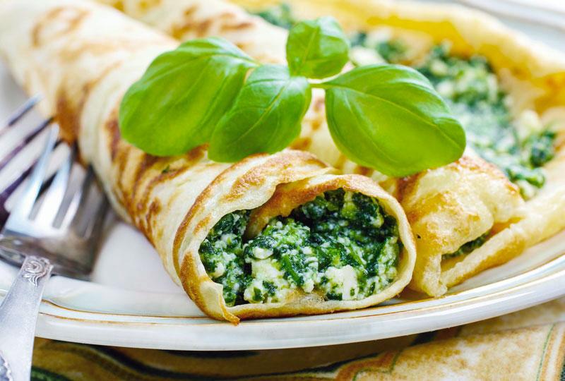 Cannelloni di magro con spinaci