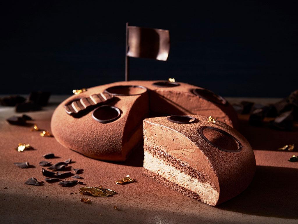 Torta Mousse ai due cioccolati (Cioccoluna)