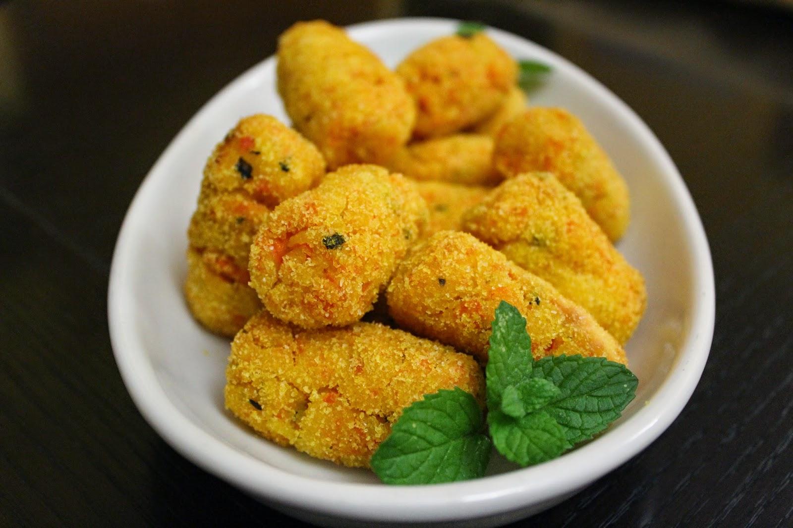 Crocchette vegan con carote e menta ricetta for Cuocere v cucinare