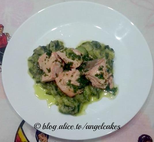 Cuor di zucchine con salmone