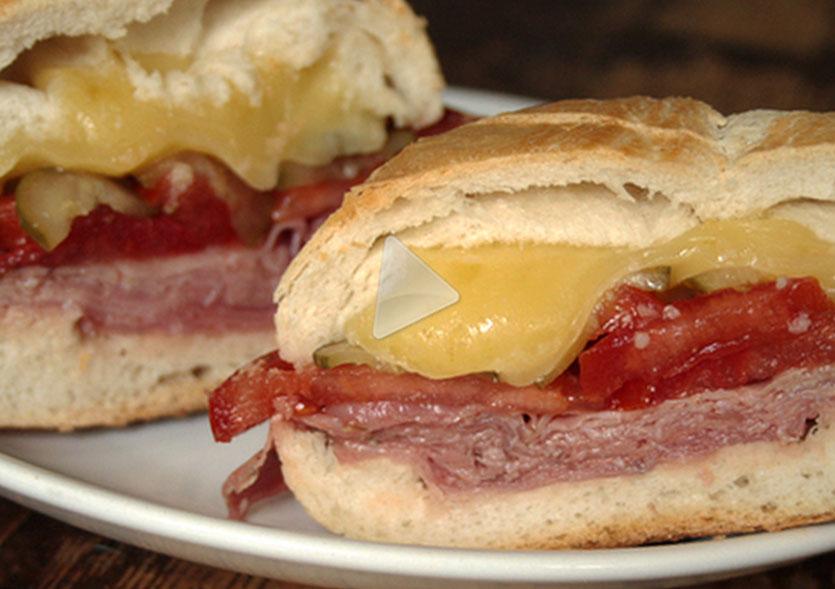 Bauru do ponto chic (tradizionale panino brasiliano)