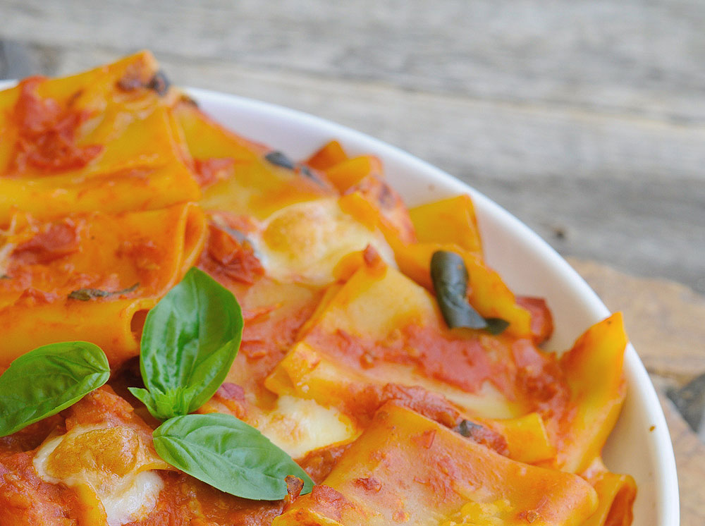 Tortiglioni al pomodoro e basilico