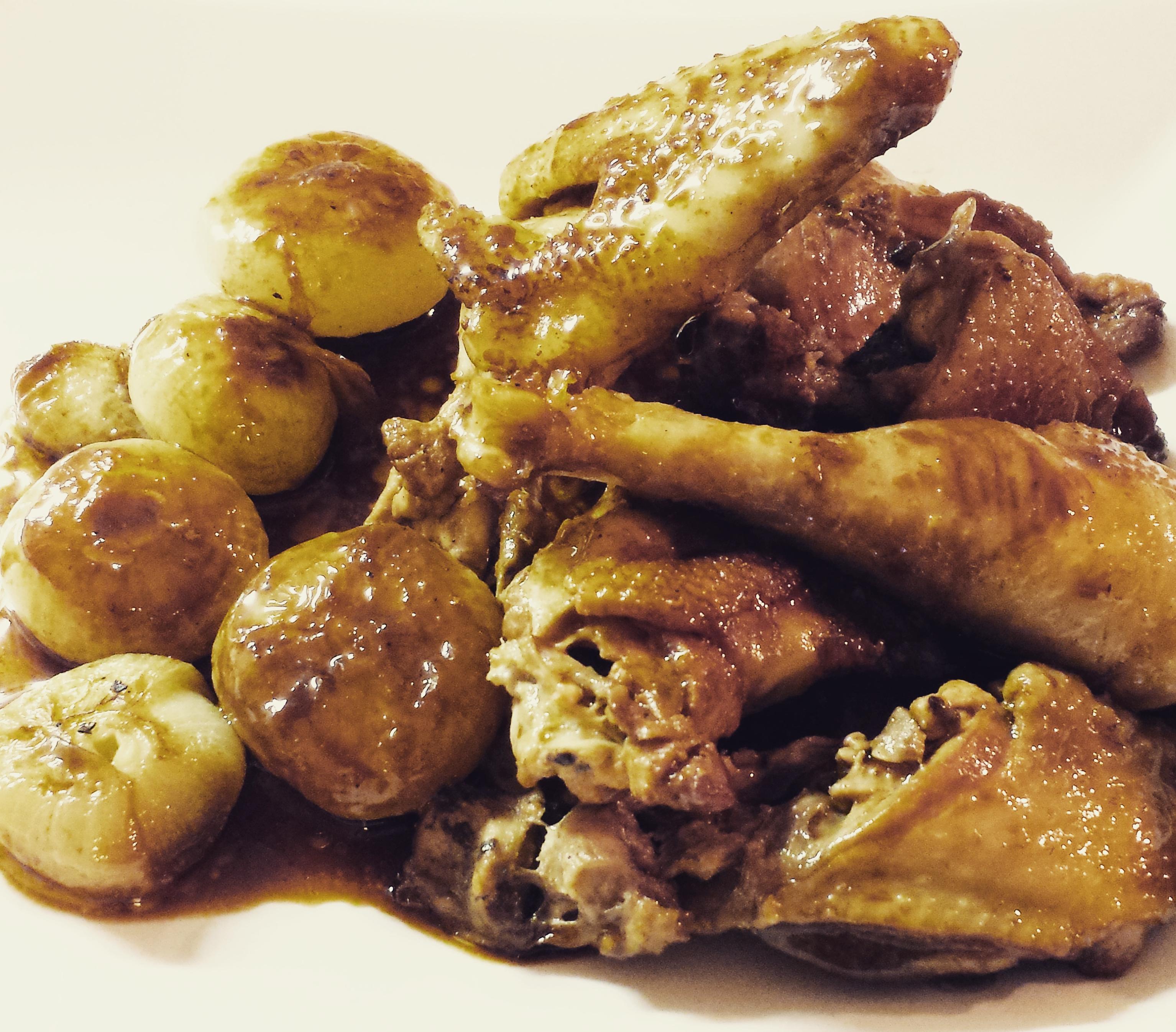 Pollo con cipolline borretane allo zenzero ricetta for Cucinare zenzero