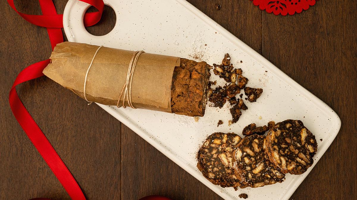 Salame di cioccolato con Orzoro