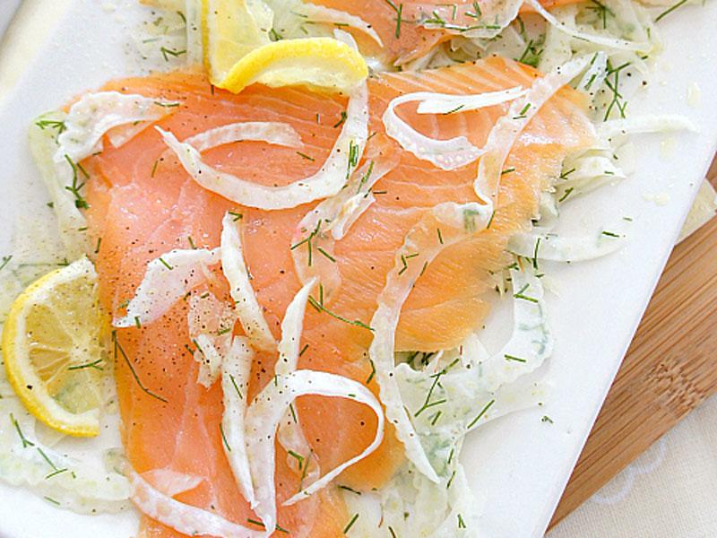 Trote e salmone affumicati al finocchio